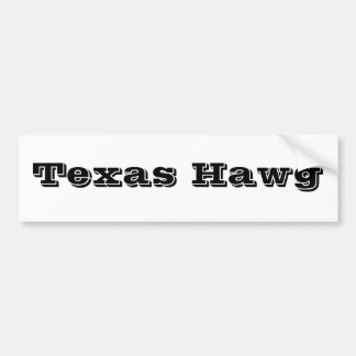 Texas Hawg Bumper Sticker