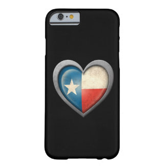 Texas Heart Flag with Metal Effect Barely There iPhone 6 Case