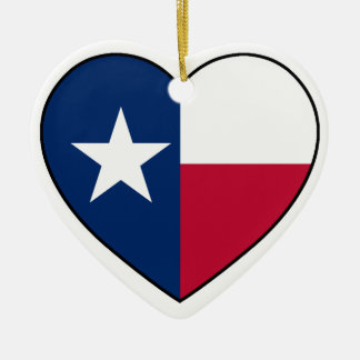 Texas Heart Ornament for Christmas Tree