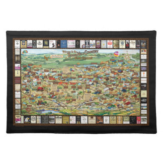 Texas Hill Country Wine Map Placemat