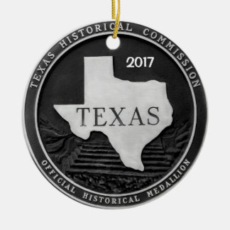 Texas Historical Medallion Christmas Ornament