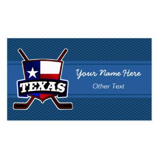 Texas Hockey Customizable Business Cards