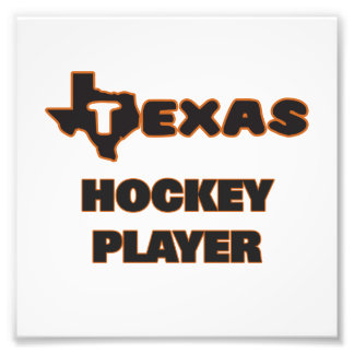 Texas Hockey Player Art Photo