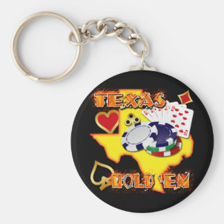 TEXAS HOLD 'EM BASIC ROUND BUTTON KEY RING