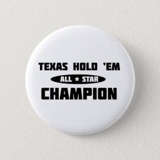 Texas Hold 'Em Champion 6 Cm Round Badge