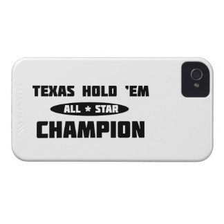 Texas Hold 'Em Champion iPhone 4 Case-Mate Case