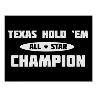 Texas Hold 'Em Champion Poster