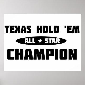 Texas Hold 'Em Champion Poster