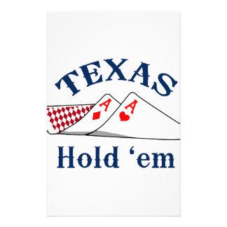 Texas Hold Em Customized Stationery