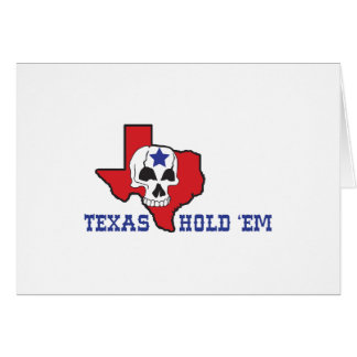 Texas Hold Em Greeting Card