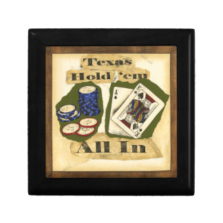 Texas Hold 'Em Hand with King and Ace Gift Box