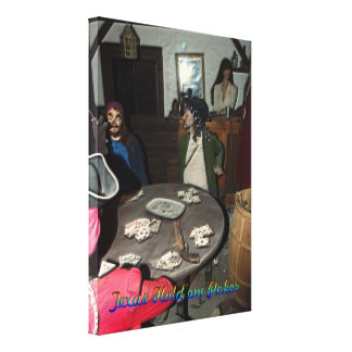 Texas Hold 'em Poker Pirates Table Stretched Canvas Prints