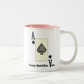 Texas Hold'Em Ace w Front Back Print Ace Design Two-Tone Coffee Mug