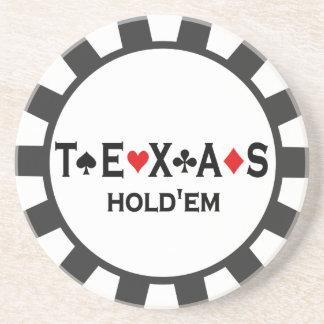 Texas Holdem Poker Chip coasters