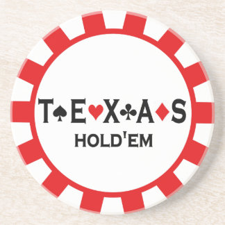 Texas Holdem Poker Chip coasters