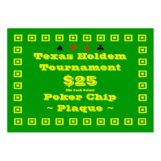 Texas Holdem Poker Chip Plaque $25 (100ct) Business Cards