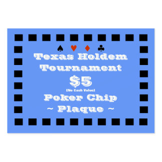 Texas Holdem Poker Chip Plaque $5 (100ct) Pack Of Chubby Business Cards