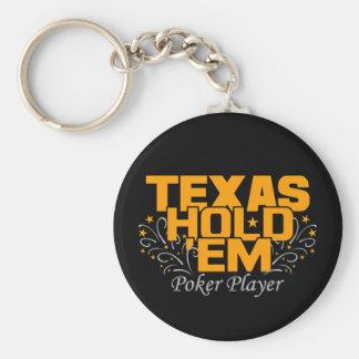 Texas Hold'Em Poker Key Ring