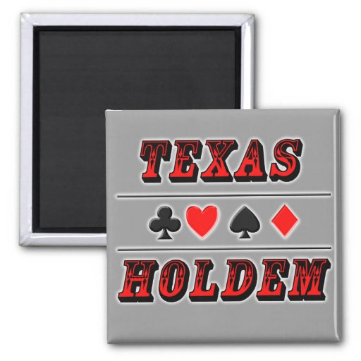Texas Holdem Poker Refrigerator Magnets