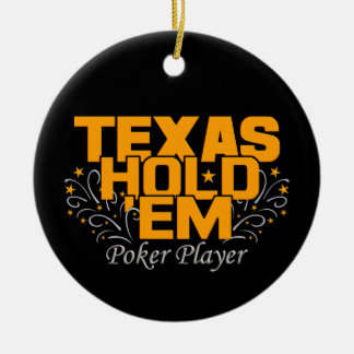 Texas Hold'Em Poker ornament, customize Christmas Ornament