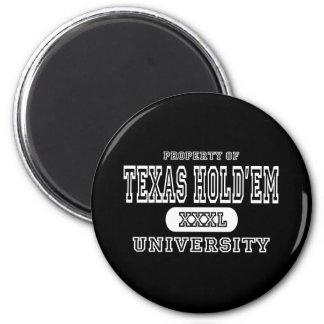 Texas Holdem University Dark 6 Cm Round Magnet