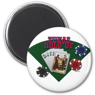 Texas Hold'up 6 Cm Round Magnet