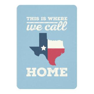 Texas Home Card - Flag 13 Cm X 18 Cm Invitation Card