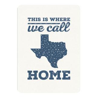 "Texas Home Card - Stars at Night 5"" X 7"" Invitation Card"