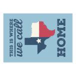 Texas Home Flag Business Cards