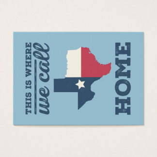 Texas Home Flag Business Cards