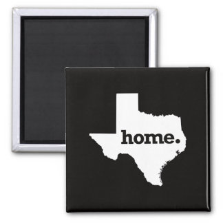 Texas Home Square Magnet