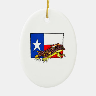 TEXAS HORNED TOAD CERAMIC OVAL DECORATION