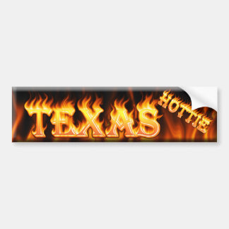 texas hottie bumper sticker