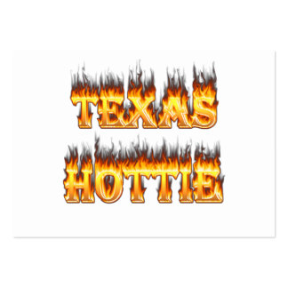 Texas hottie fire and flames pack of chubby business cards