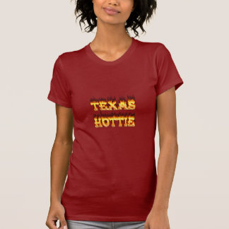 Texas hottie fire and flames tees