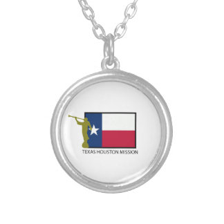 TEXAS HOUSTON MISSION LDS CTR SILVER PLATED NECKLACE