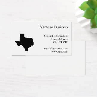 Texas in Black and White Business Card