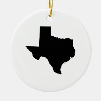 Texas in Black and White Christmas Ornament