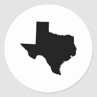 Texas in Black and White Classic Round Sticker