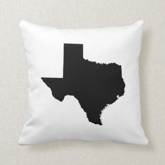 Texas in Black and White Cushion