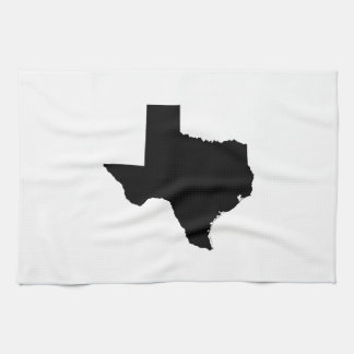 Texas in Black and White Kitchen Towels