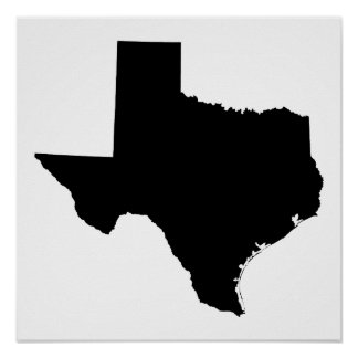 Texas in Black and White Poster