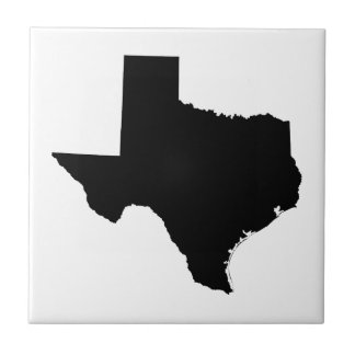 Texas in Black and White Tile