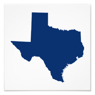 Texas in Blue Photo Print