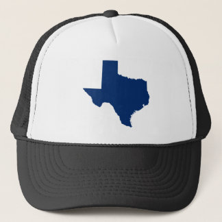 Texas in Blue Trucker Hat