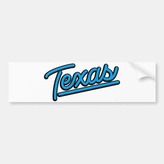 Texas in cyan bumper sticker