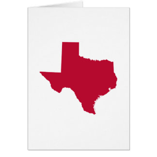 Texas in Red Card