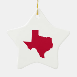 Texas in Red Christmas Ornament