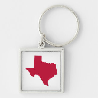 Texas in Red Key Ring