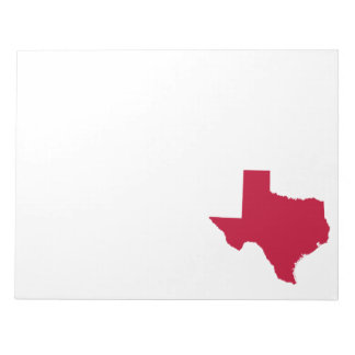 Texas in Red Notepad